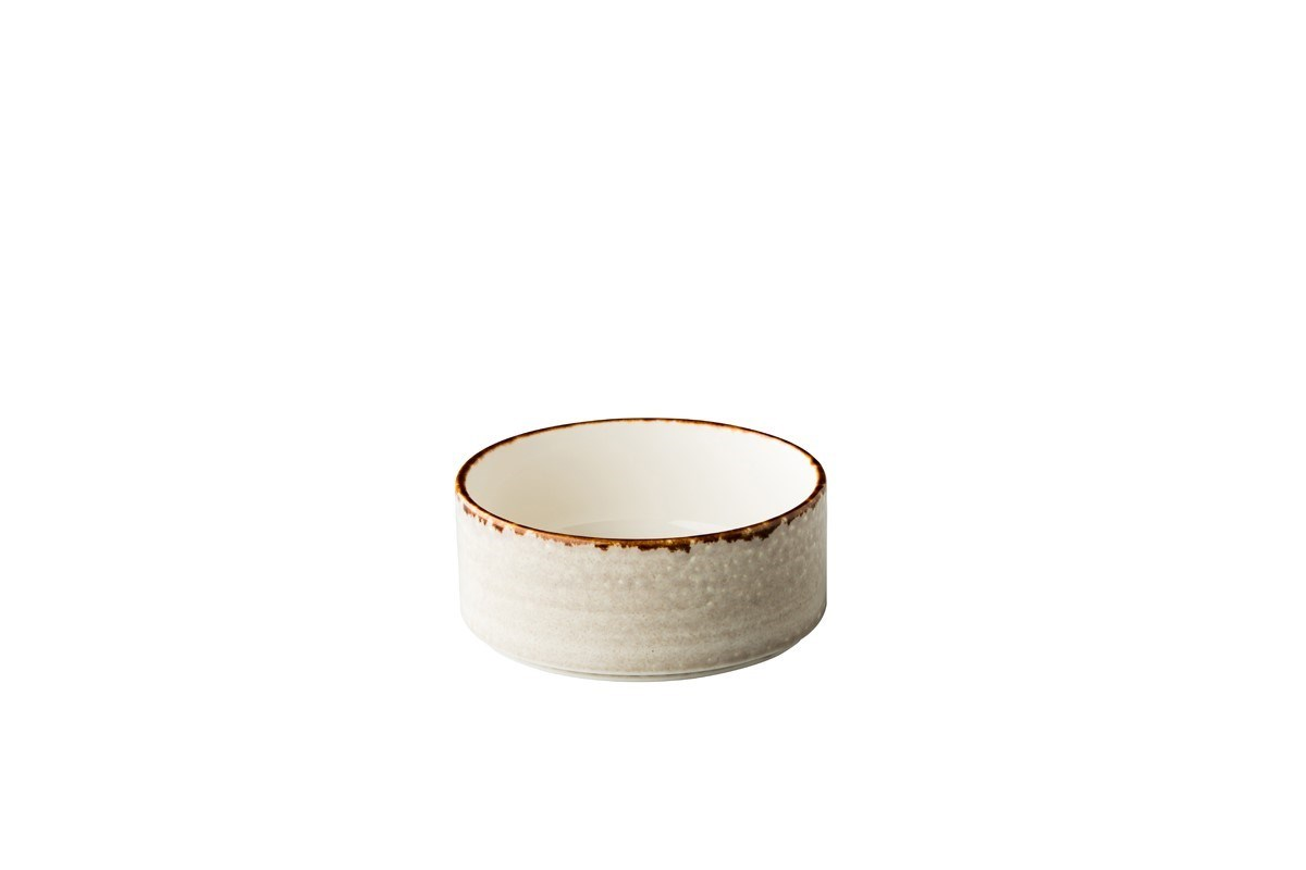 Productafbeelding Jersey kom opst. rand stapelbaar grijs 12,8 cm
