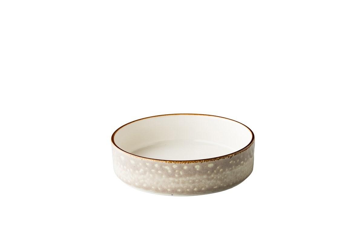 Productafbeelding Jersey bord diep opst. rand stapelbaar grijs 18cm