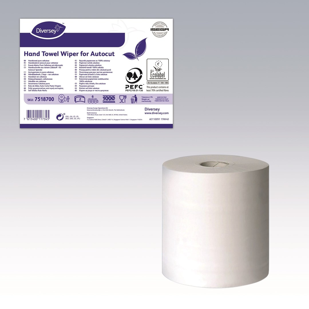 Productafbeelding DI Hand Towel Wiper Autocut 2ply 6pc W1