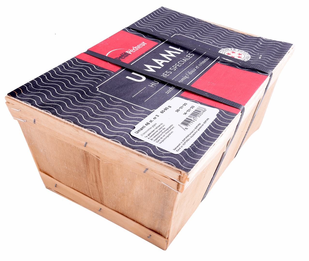 Productafbeelding OYSTERS UNAMI, SIZE: 3 BASKET 48 PIECES