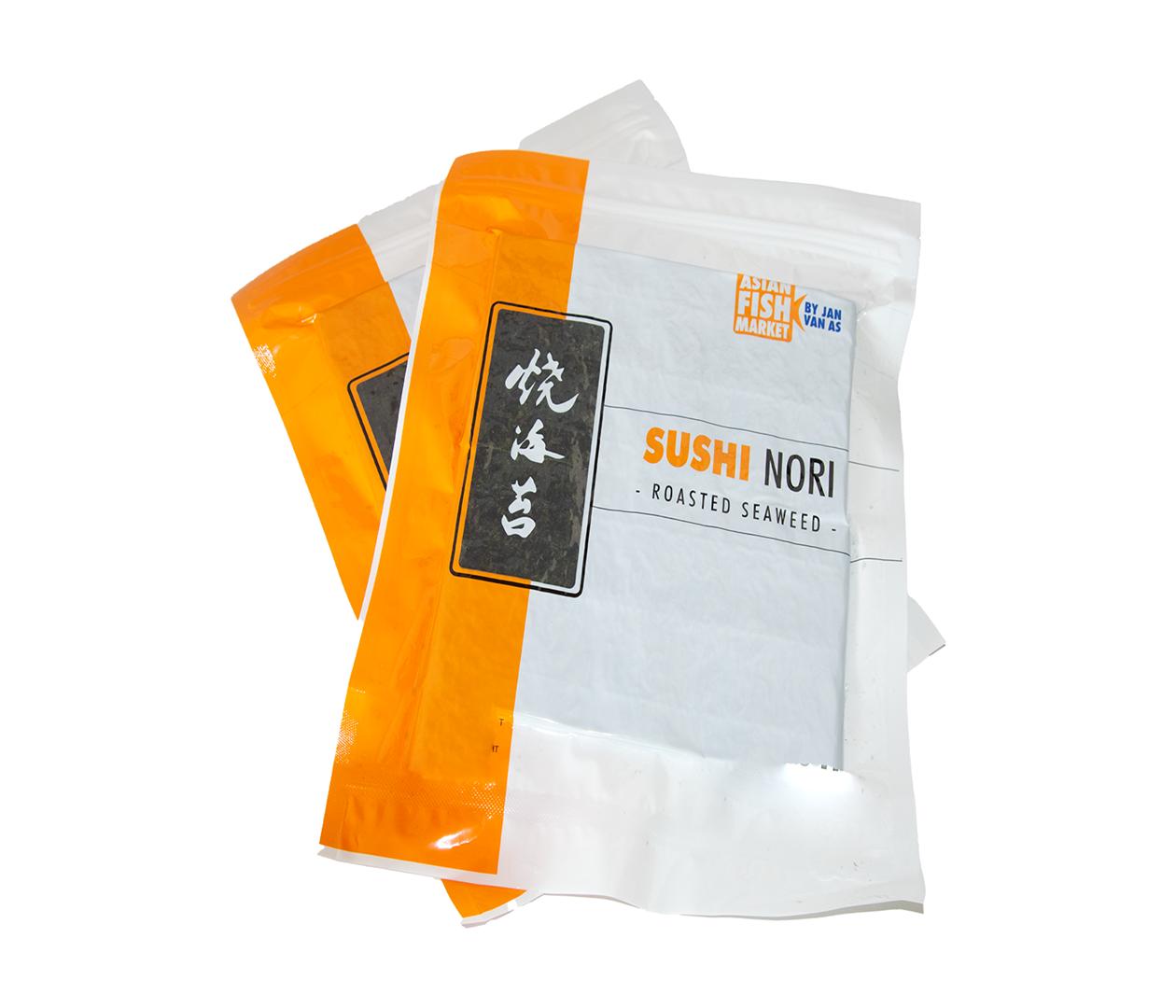 Productafbeelding SUSHI NORI 50PC FULL SHEET DOOS 40X140GR GOLD