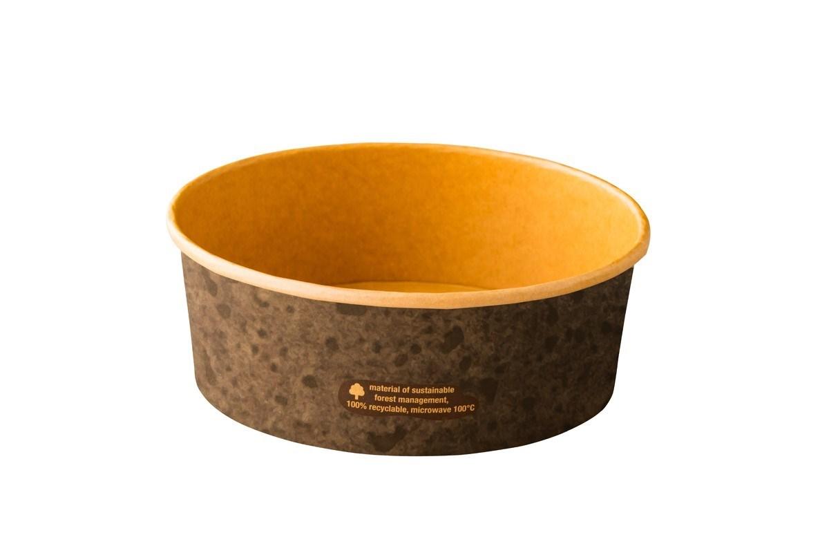 Productafbeelding Kraft kom Stoneblack 1300 ml 50 st