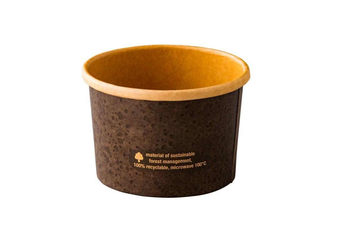 Productafbeelding Kraft garnituur bakje Stoneblack 230 ml 25 st