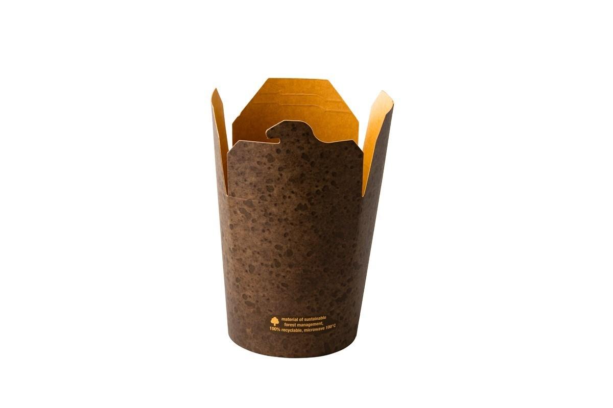 Productafbeelding Kraft noodle box Stoneblack 470 ml 50 st