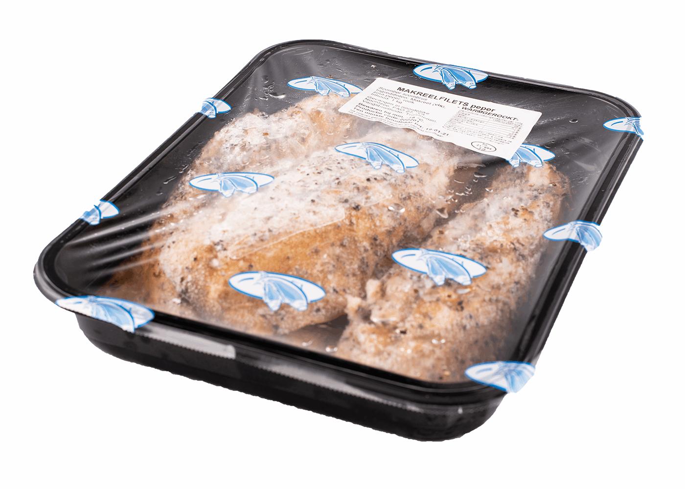 Productafbeelding MACKEREL SMOKED PEPER BOX 3KG FROZEN
