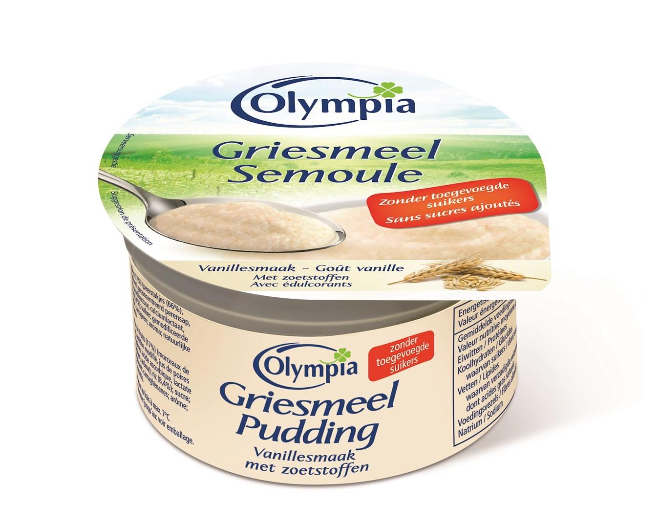 Productafbeelding Griesmeelpudding vanillesmaak met zoetstoffen 100g