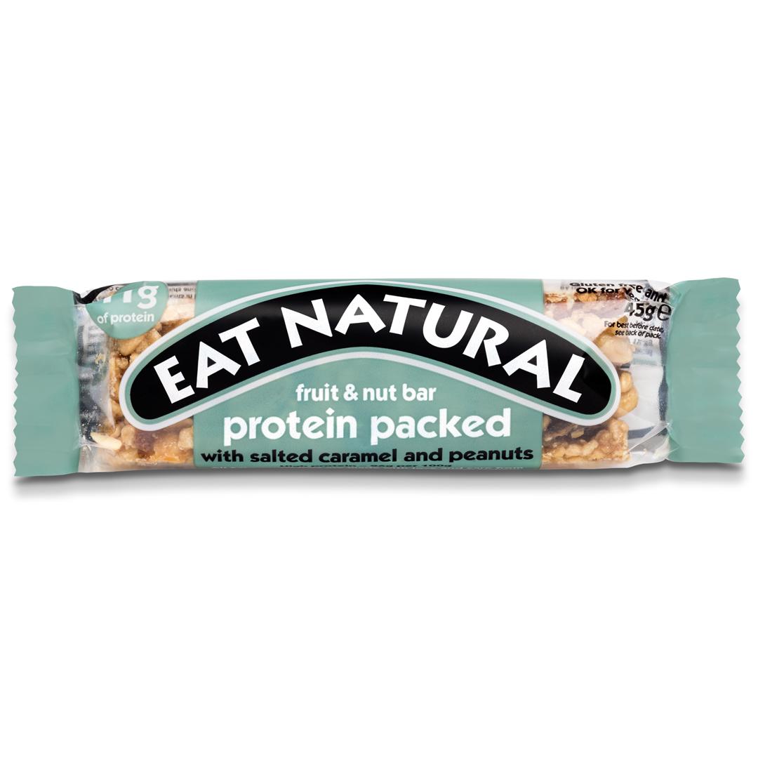 Productafbeelding Eat Natural fruit & nut bar protein packed met salted caramel en pinda's 45g