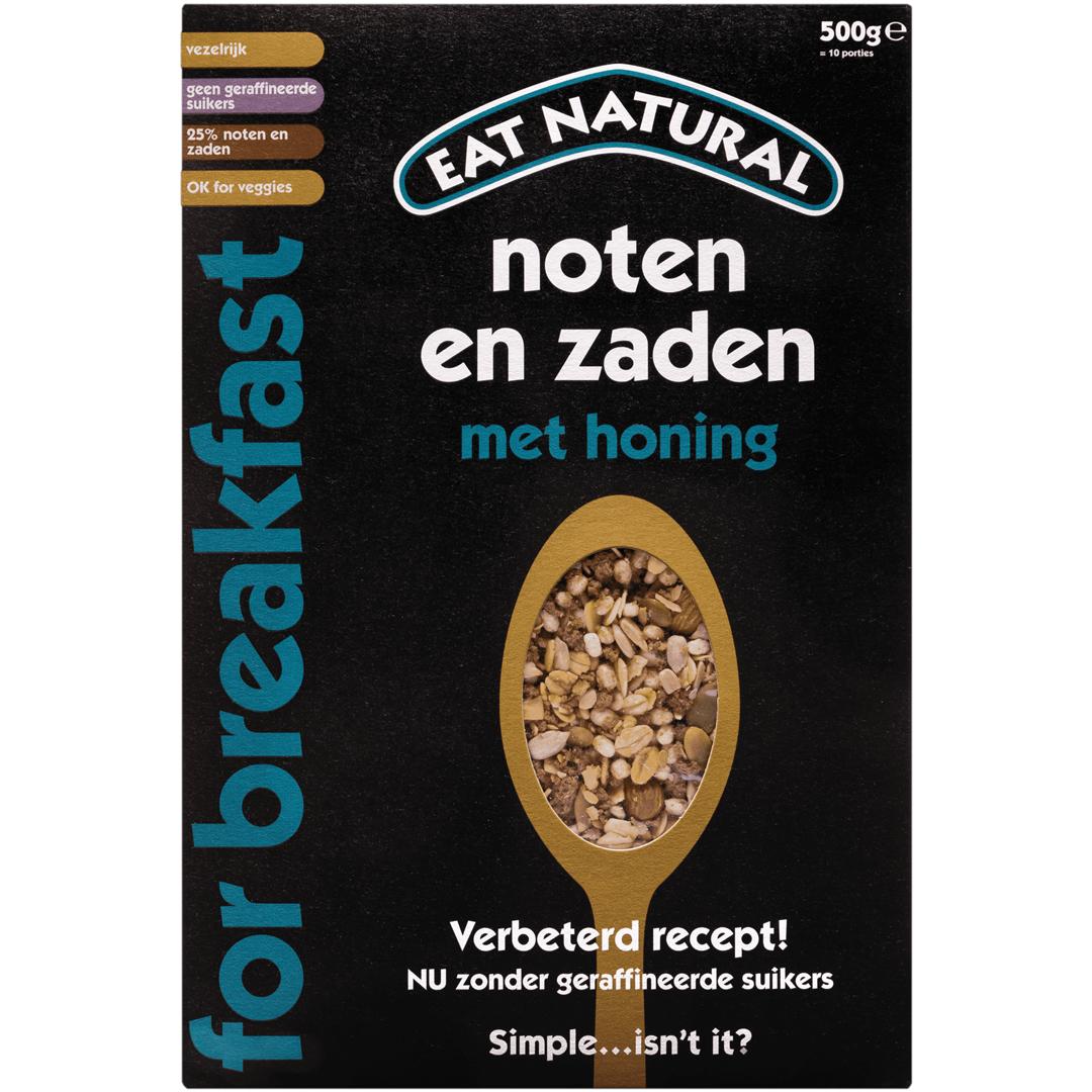 Productafbeelding Eat Natural For Breakfast Noten en Zaden met honing 500g