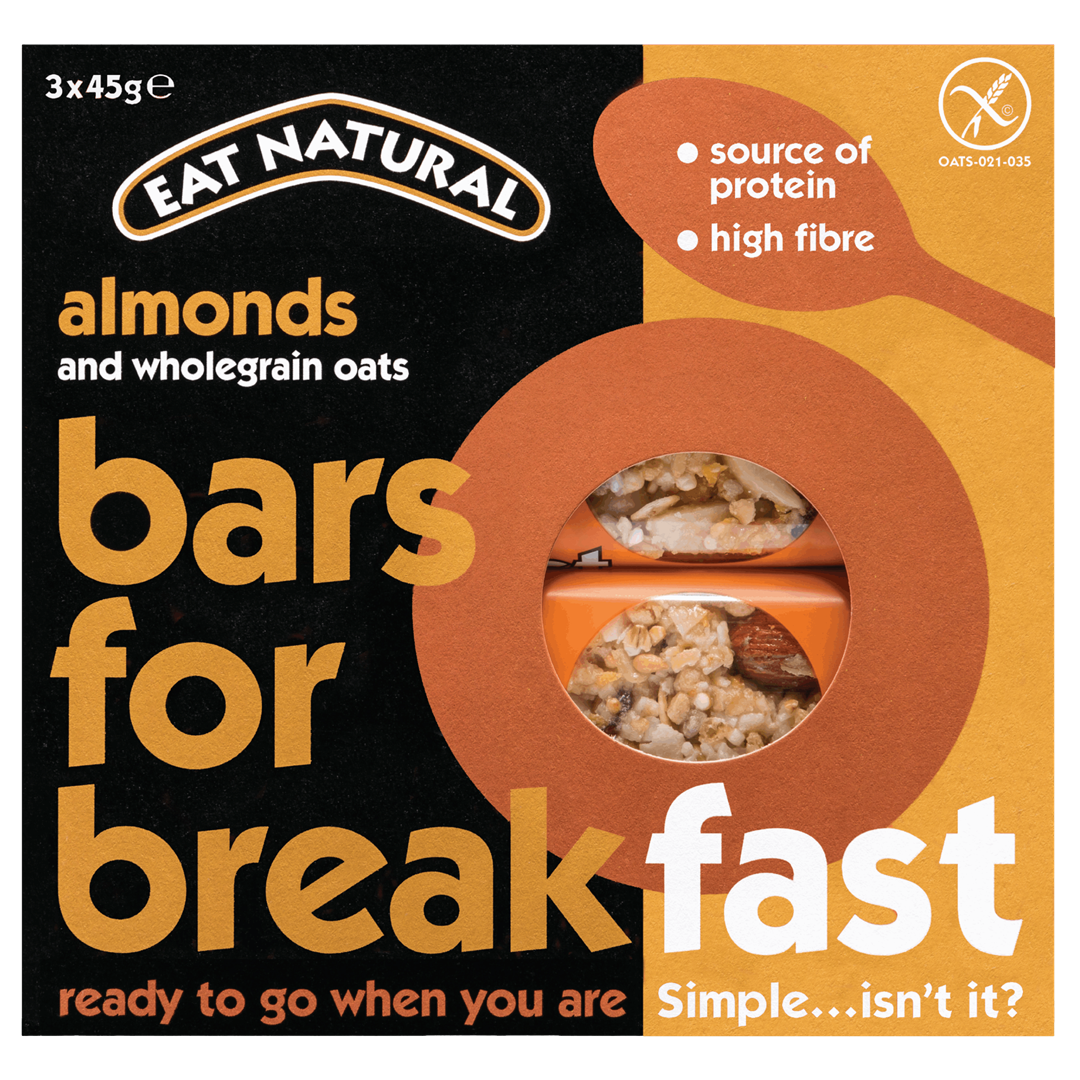 Productafbeelding Eat Natural bars for breakfast amandelen en volkoren haver 3x45g