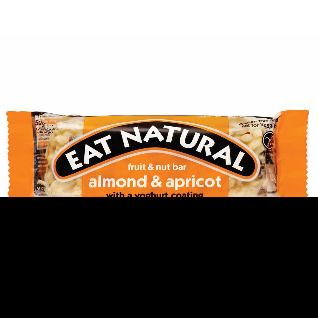 Productafbeelding Eat Natural fruit & nut bar amandel & abrikoos met een yoghurtlaagje  50g