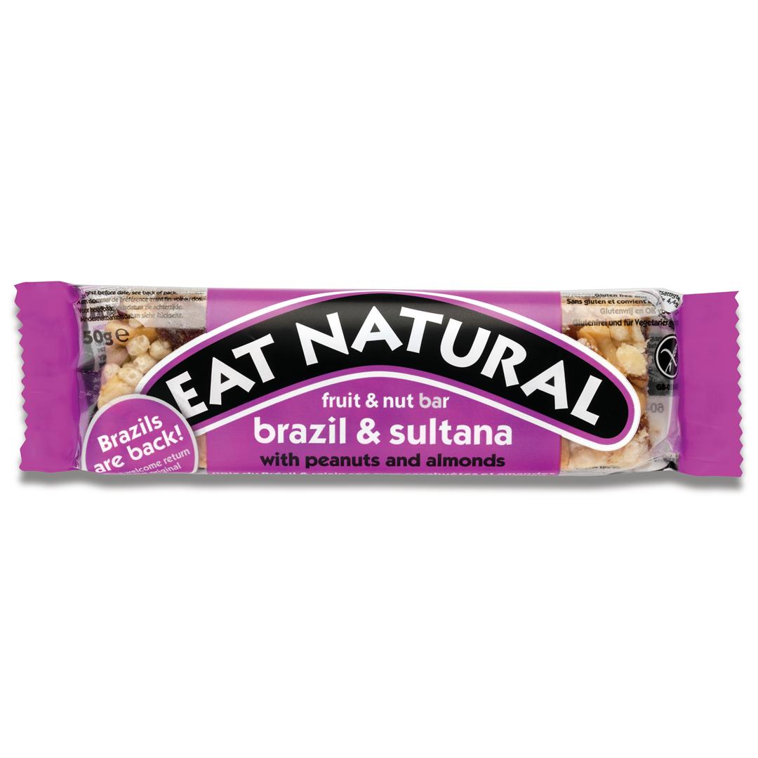 Productafbeelding Eat Natural fruit & nut bar paranoot & sultanarozijn met pinda's en amandelen 50g