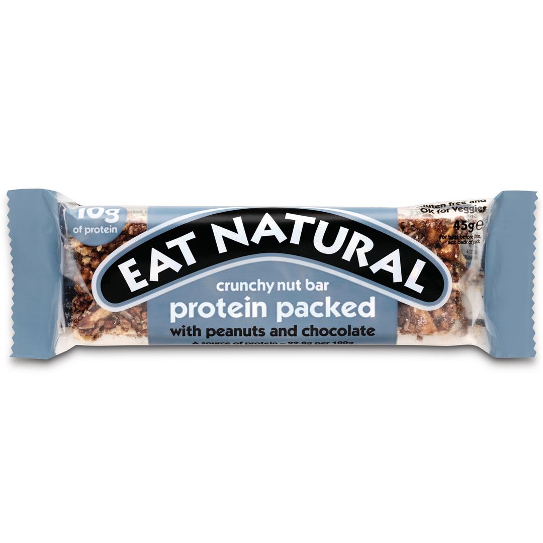 Productafbeelding Eat Natural crunchy nut bar protein packed met pinda's en chocolade 45g