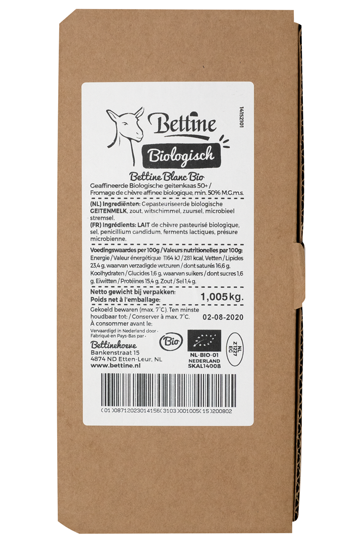 Productafbeelding Bettine Bio Blanc gerijpte geitenkaas 1 kg