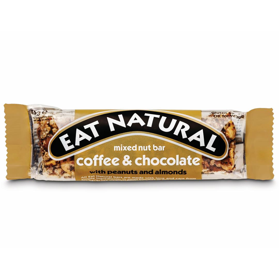 Productafbeelding Eat Natural mixed nut bar coffee & chocolate met pinda's en amandelen 45g