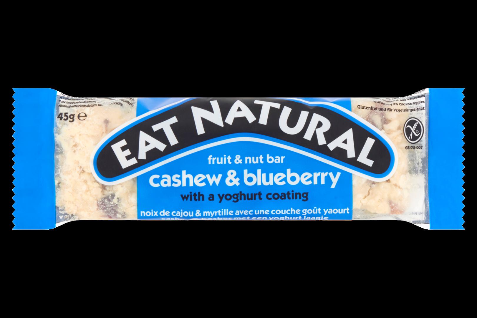 Productafbeelding Eat Natural fruit & nut bar cashew & bosbes met een yoghurtlaagje 45g