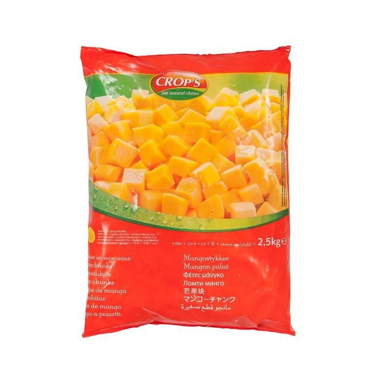 Productafbeelding Mango blokjes 20x20mm 2500 g