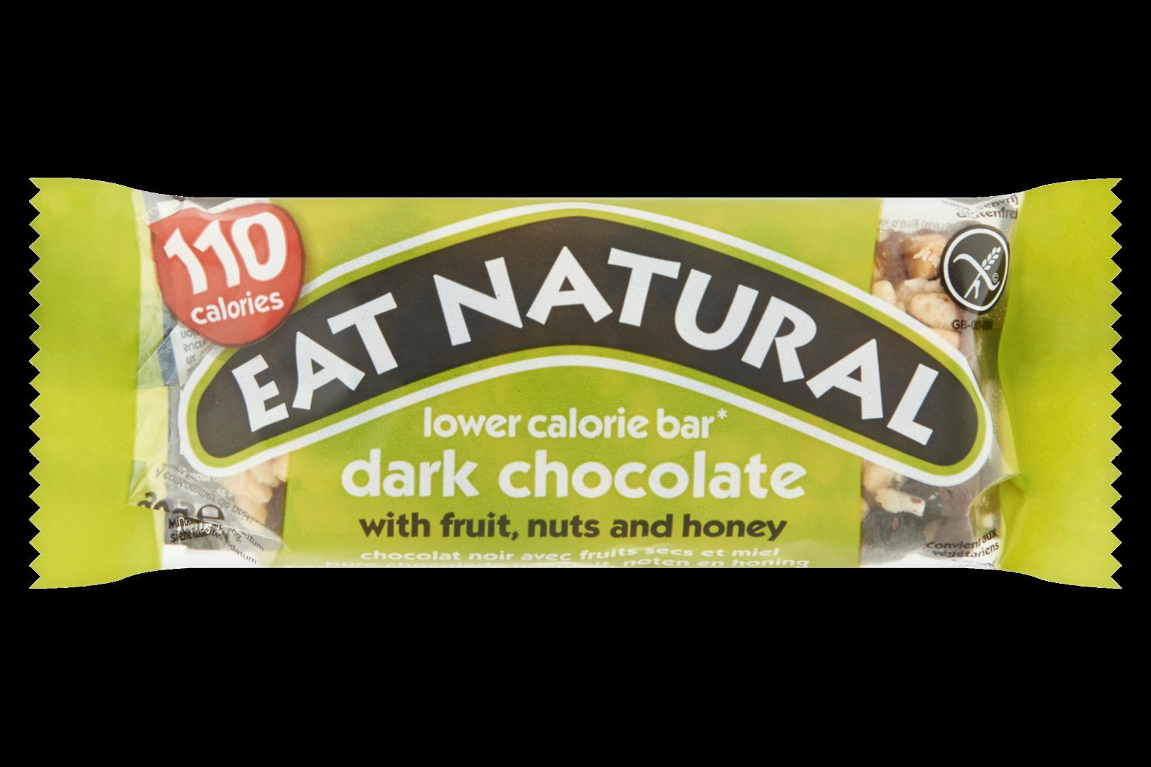 Productafbeelding Eat Natural lower calorie bar pure chocolade met fruit, noten en honing