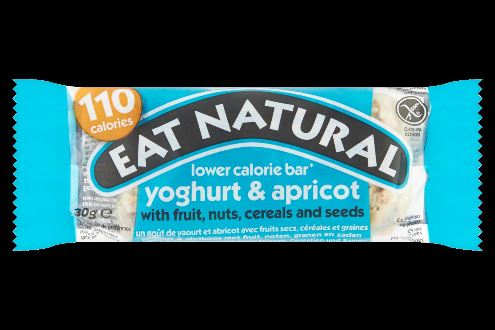 Productafbeelding Eat Natural lower calorie bar yoghurt & abrikoos met fruit, noten, granen en zaden